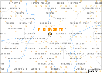 map of El Guayabito