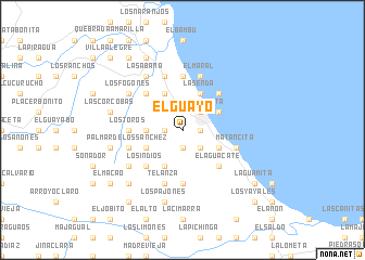 map of El Guayo