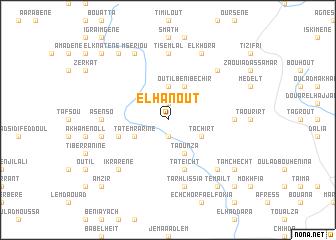 map of El Hanoût