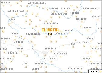 map of El Hiatal