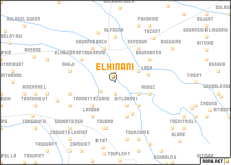 map of El Hinani
