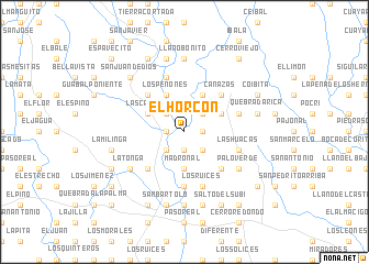 map of El Horcón
