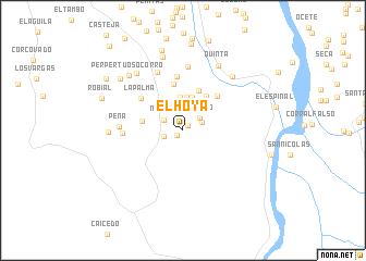 map of El Hoya
