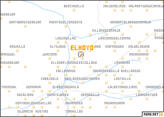 map of El Hoyo