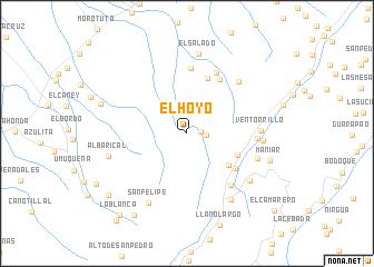 map of El Hoyo
