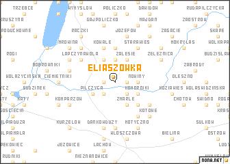 map of Eliaszówka