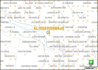 map of El Ingenio Abajo