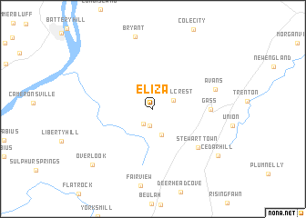 map of Eliza