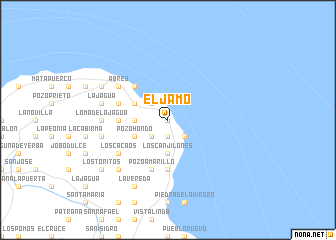 map of El Jamo