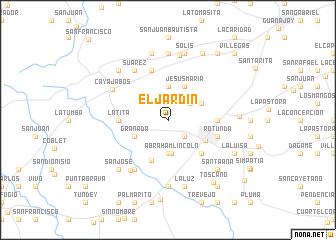 map of El Jardín
