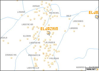 map of El Jazmín