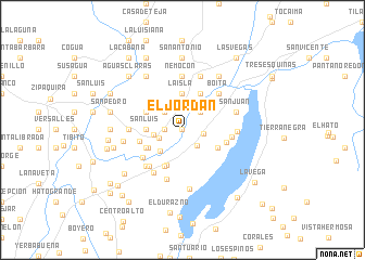 map of El Jordán