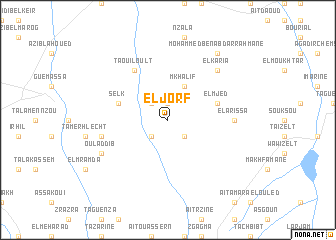 map of El Jorf