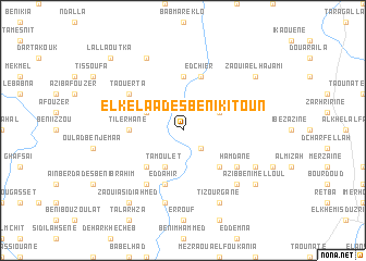 map of El Kelaa des Beni Kitoun