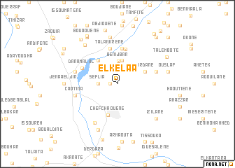 map of El Kelaa
