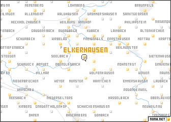 map of Elkerhausen