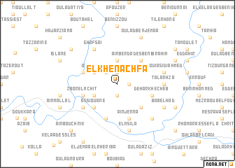 map of El Khenachfa
