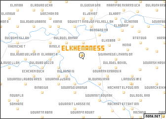 map of El Khenaness