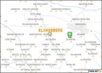 map of El Khobbane