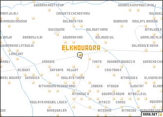 map of El Khouadra