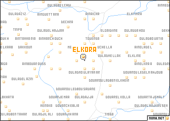 map of El Kora