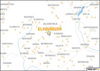 map of El Kouaoura