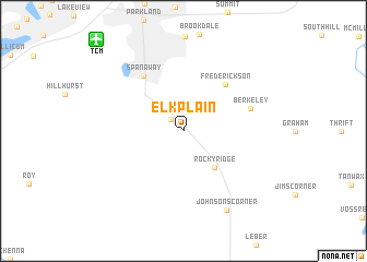 map of Elk Plain