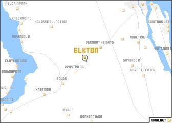 map of Elkton