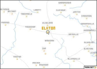 map of Elkton