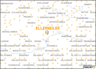 map of Ellenweiler