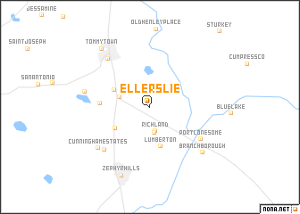 map of Ellerslie