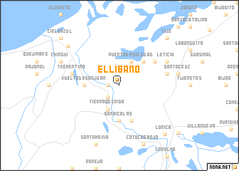map of El Líbano