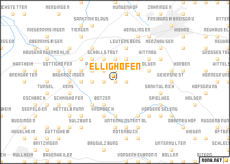 map of Ellighofen
