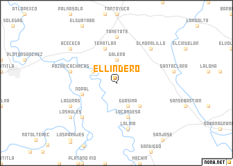 map of El Lindero