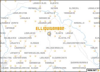 map of El Liquidámbar