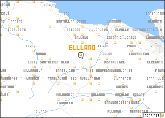 map of El Llano