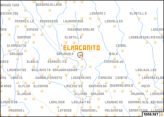 map of El Macanito