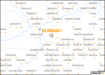 map of El Maguey
