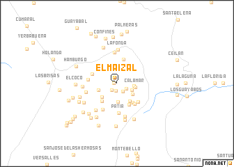 map of El Maizal
