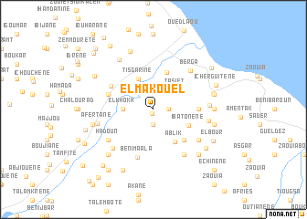 map of El Makouel