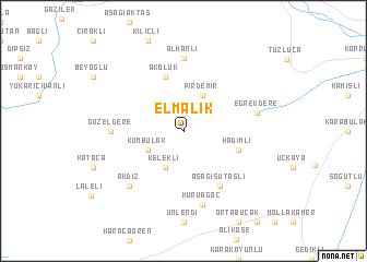 map of Elmalık