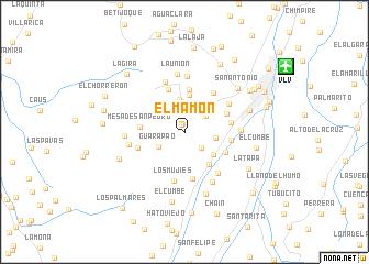 map of El Mamón