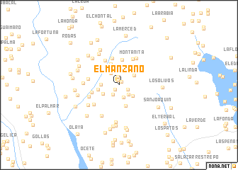 map of El Manzano