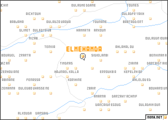 map of El Mehamda