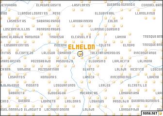 map of El Melón