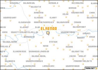map of El Menaâ