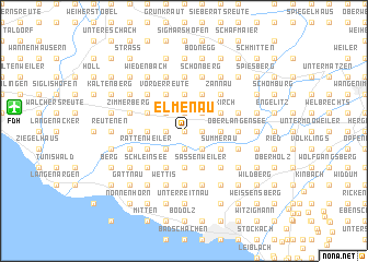 map of Elmenau