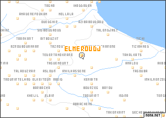 map of El Meroudj