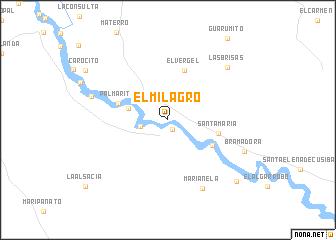 map of El Milagro
