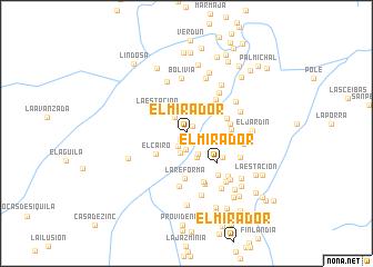 map of El Mirador